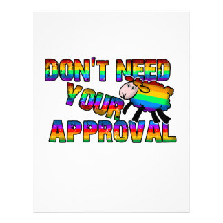 Dont need your approval letterhead