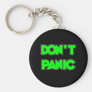 Don't Panic Basic Round Button Keychain