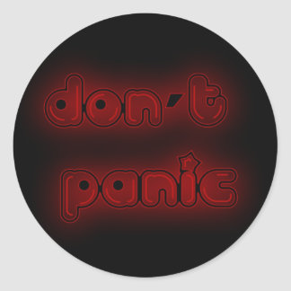 DON'T PANIC CLASSIC ROUND STICKER