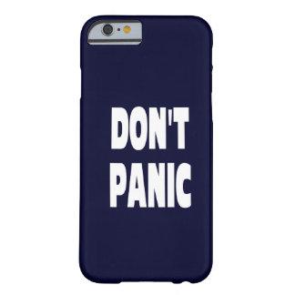 Don't Panic Dark Blue iPhone 6 case
