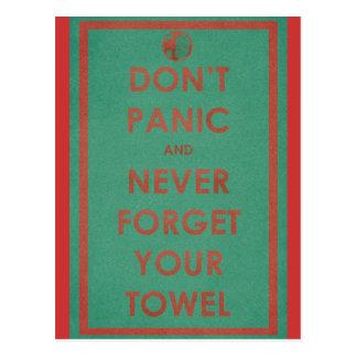 Don't Panic Funny Design Postcard
