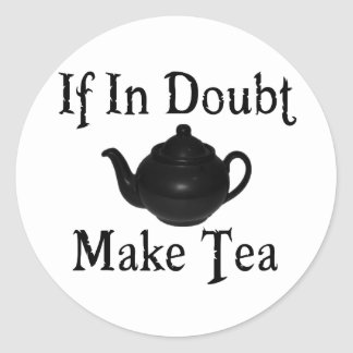 Don't panic - make tea! classic round sticker
