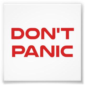 Don't Panic Photograph