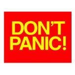 Don't Panic Post Card