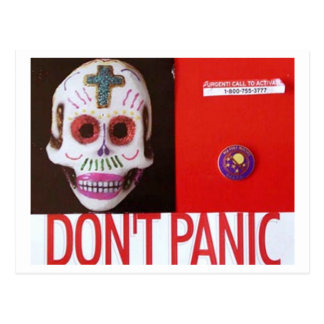 DONT PANIC POSTCARD