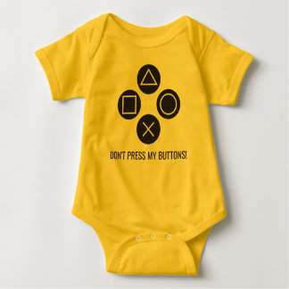 Don't Press My Buttons Baby Bodysuit
