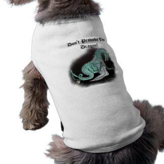 Don't Provoke The Dragon! Doggie Tee Shirt