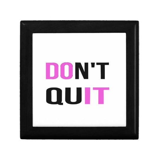 DON'T QUIT - DO IT Quote Motivational Hard Work Jewelry Box