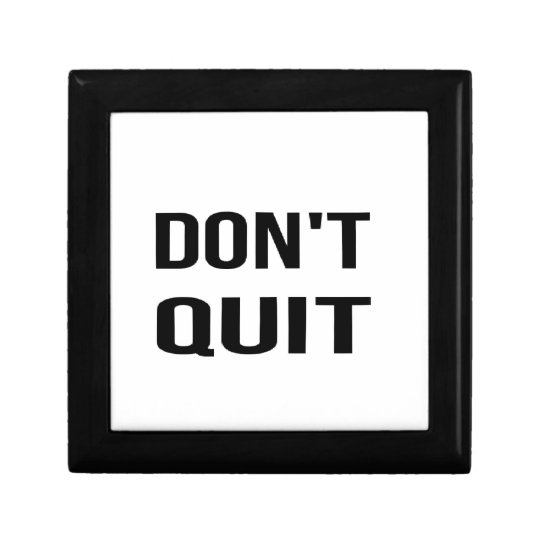 DON'T QUIT - DO IT Quote Quotation Determination Jewelry Box