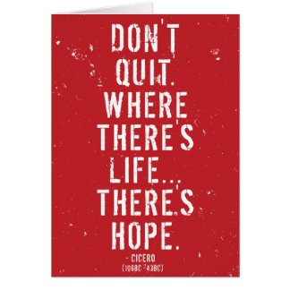 Don't Quit - Motivational Roman Quote Card