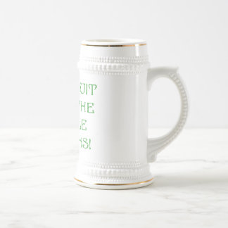 Don't Quit Until The Miracle Happens! 18 Oz Beer Stein