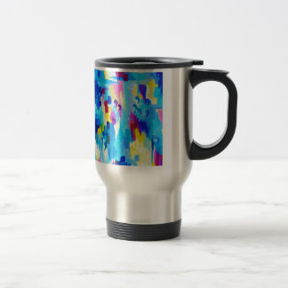 DONT QUOTE ME, Revisited - Bold Colorful Blue Pink Travel Mug