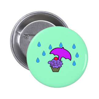 Don't Rain On My Cupcake Pinback Buttons