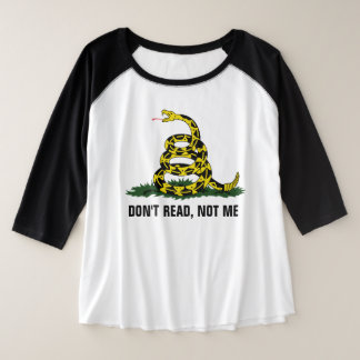 Don't Read, Not Me Plus Size Raglan T-Shirt