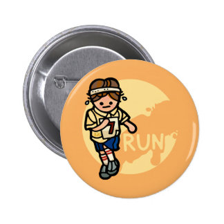 don't run with pins. 2 inch round button