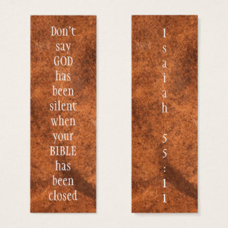 Don't say GOD had been SILENT Isaiah 55:11 Mini Business Card