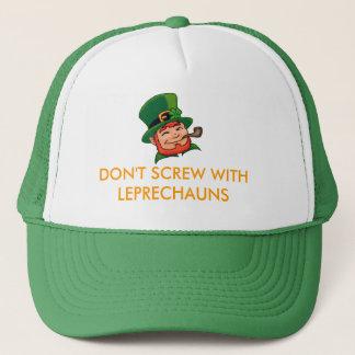 DON'T SCREW WITH LEPRECHAUNS TRUCKER HAT