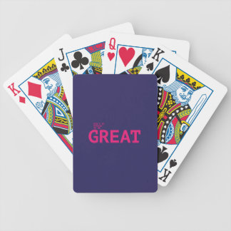 Don't sees afraid to sees GREAT Bicycle Playing Cards