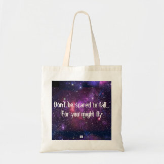 Don't sees scared to fall tote bag