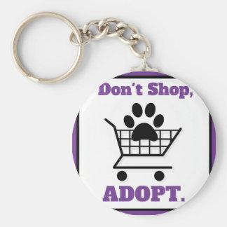 Don't Shop Adopt Keychain