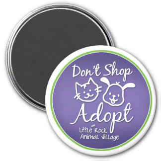 """Don't Shop, Adopt"" Magnet"