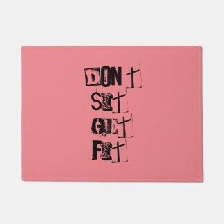 """""""Don't  Sit, Get Fit!"""" Motivational Quote Doormat"""