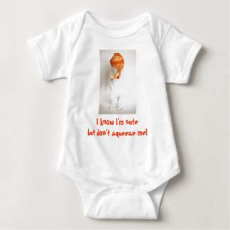 don't squeeze me mandarin baby bodysuit