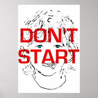 Don't Start Smoking Poster