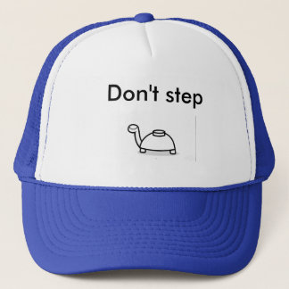 Don't step on turtle trucker hat