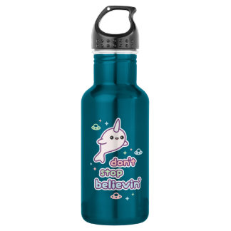 Don't Stop Believin' in Narwhals 532 Ml Water Bottle
