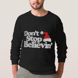 Don't stop believin' santa claus sweatshirt