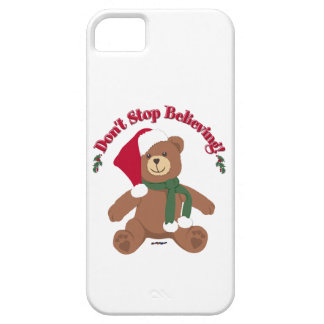 Don't Stop Believing! Christmas Bear iPhone 5 Covers