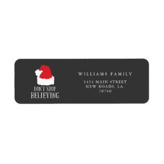 Don't Stop Believing Christmas Return Address Label