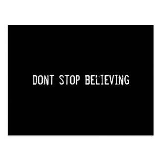 dont stop believing postcard