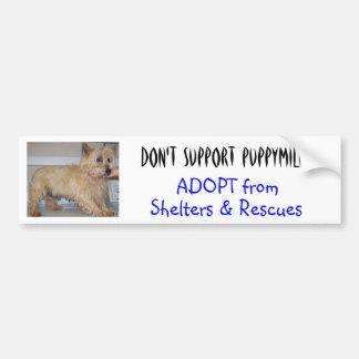 Don't Support Puppymills -- Straggles Bumper Sticker