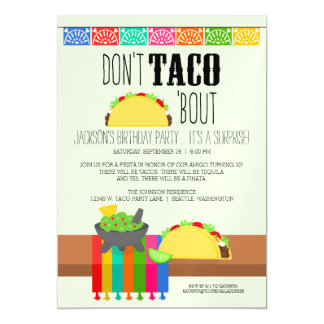 Don't Taco 'Bout Surprise Birthday Party Magnetic Card