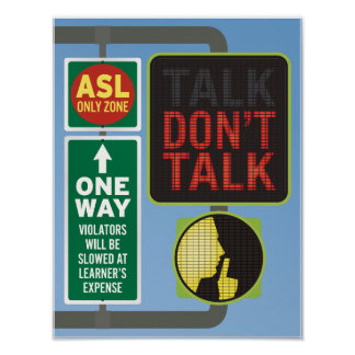 DON'T TALK. Street sign. Poster
