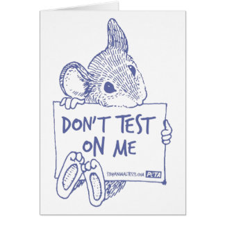 Don't Test On Me Card