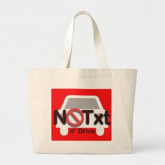 Don't text an drive jumbo tote bag