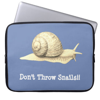 Don't Throw Snails Laptop Sleeve