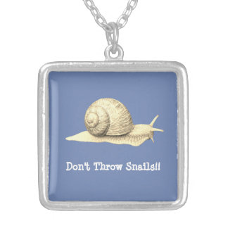 Don't Throw Snails Silver Plated Necklace