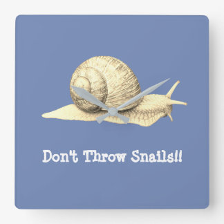 Don't Throw Snails Square Wall Clock