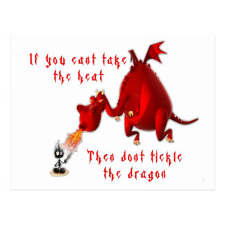 Dont Tickle the Dragon... Postcard