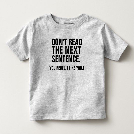Don't-Toddler Fine Jersey T-Shirt