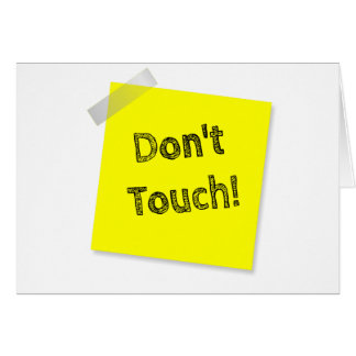 Don't touch card