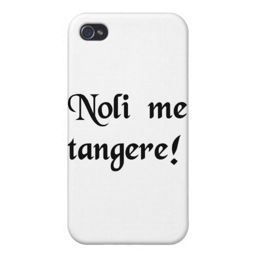 Don't touch me! iPhone 4 case
