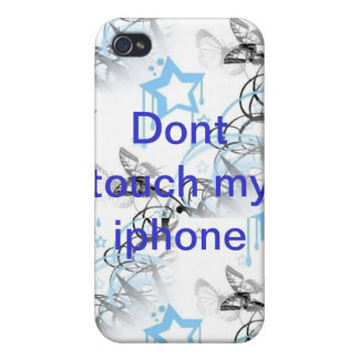 Dont touch my iphone iPhone 4/4S cover