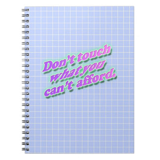 Don't Touch Photo Notebook