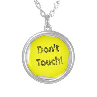 Don't touch silver plated necklace