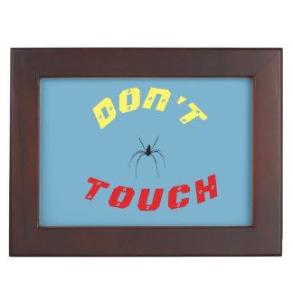 Don't Touch Spider Keepsake Box